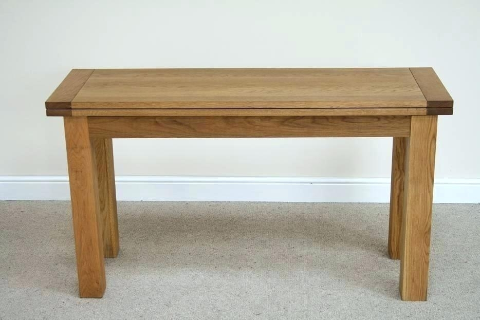 Flip Top Console Dining Table Flip Dining Tables Oak Flip Top Within Flip Top Oak Dining Tables (Image 9 of 25)