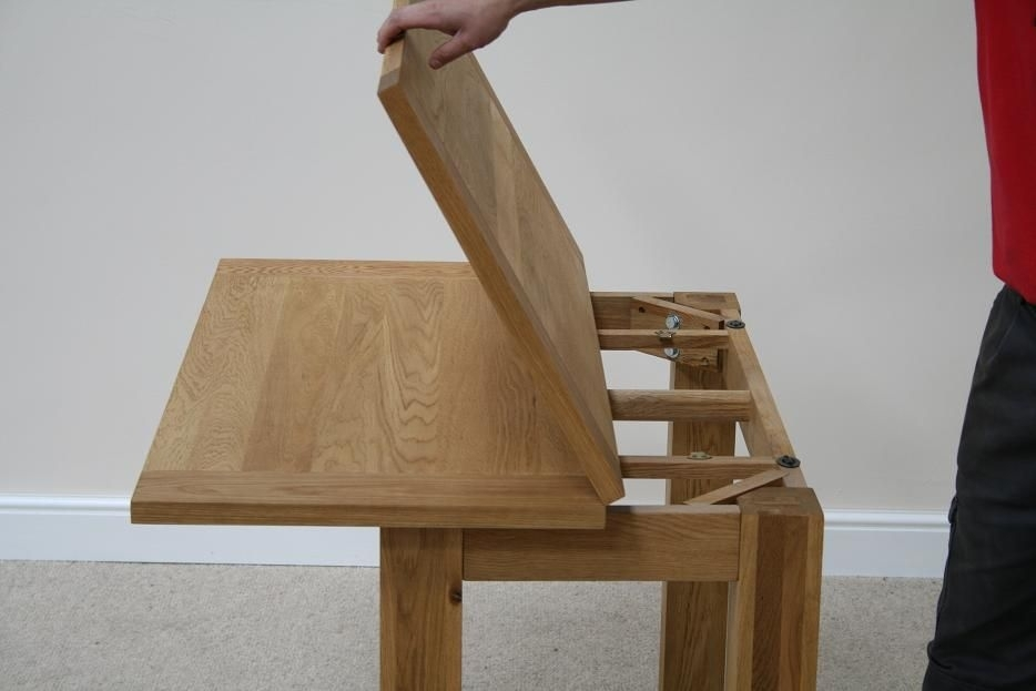Flip Top Dining Tables | Small Extending Dining Table | Narrow In Flip Top Oak Dining Tables (Image 12 of 25)