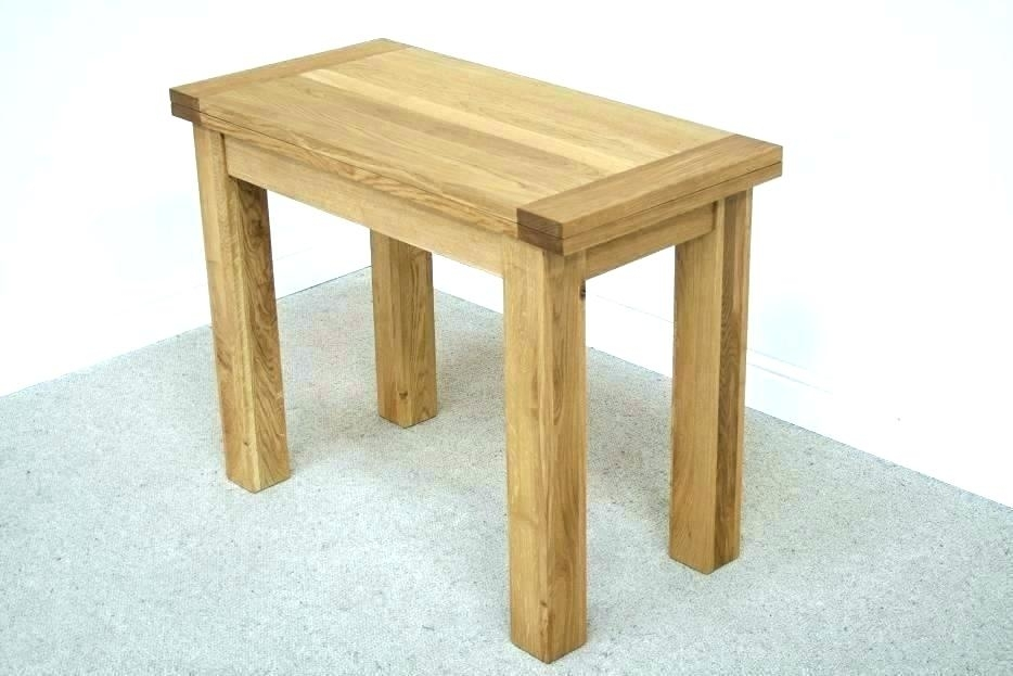 Flip Top Dining Tables Square Oak Dining Table Folding Console Flip Intended For Flip Top Oak Dining Tables (Image 13 of 25)