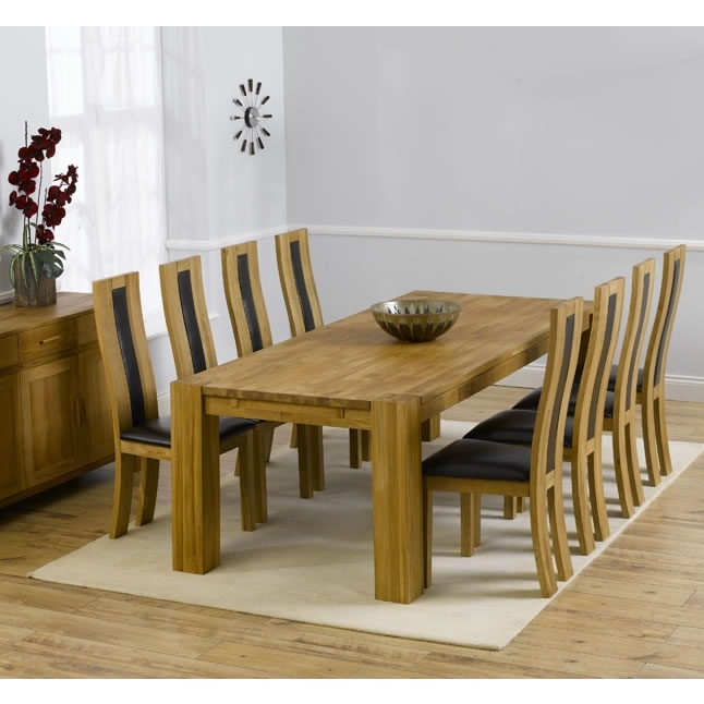 Florence Chunky Solid Oak Cm Oak Dining Table 6 Chairs Fresh Throughout Chunky Solid Oak Dining Tables And 6 Chairs (Image 13 of 25)