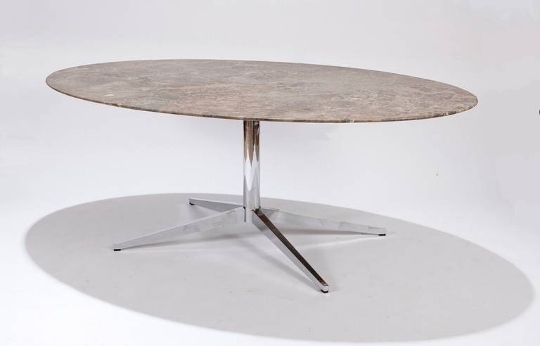 Florence Knoll Marble Top Oval Dining Table At 1Stdibs With Regard To Florence Dining Tables (Image 13 of 25)