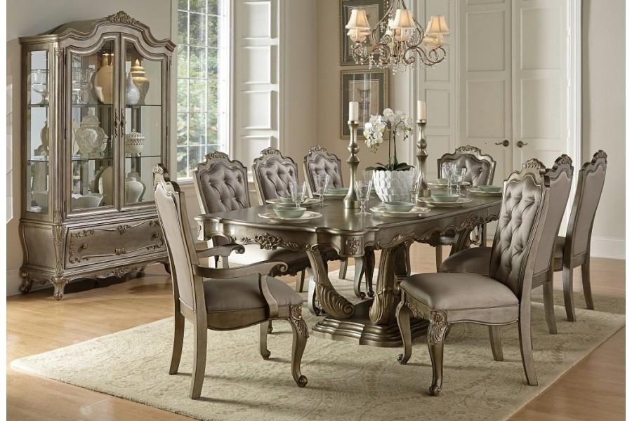 Florentine Rectangular Dining Sethomelegance | Home Elegance Usa Regarding Caira 9 Piece Extension Dining Sets (View 19 of 25)