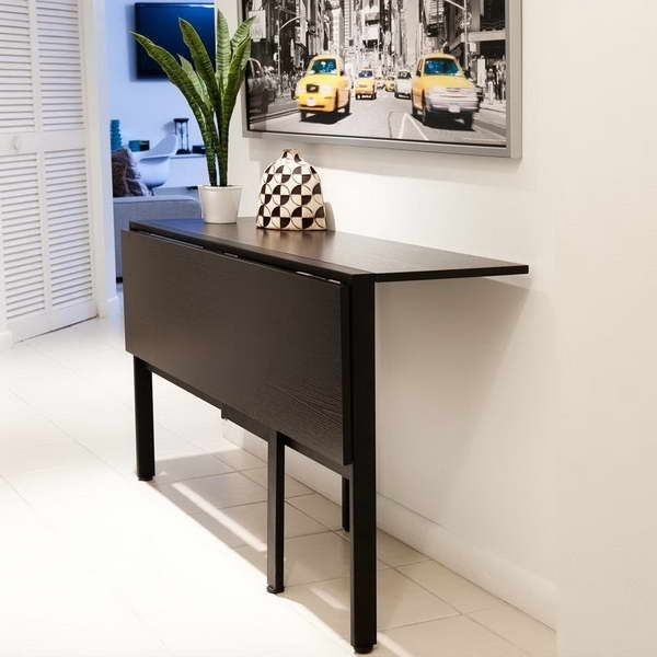 Fold Down Table For Tiny Kitchen | 18 Photos Of The Folding Tables Pertaining To Dining Tables With Fold Away Chairs (View 4 of 25)