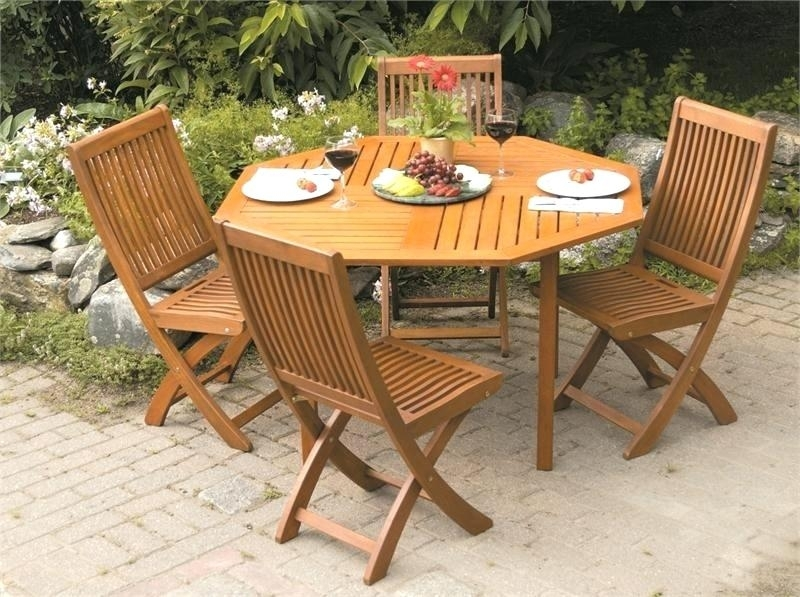 Foldable Wooden Dining Table Charming Wood Outdoor Dining Set Pertaining To Folding Outdoor Dining Tables (View 22 of 25)
