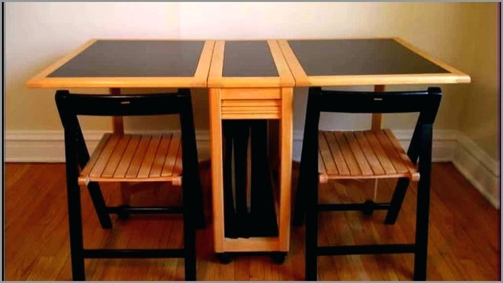 Folding Dining Table And Chairs Best Of Trommel Portable Wooden With Large Folding Dining Tables (Image 8 of 25)