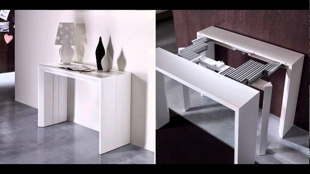 Folding Dining Table And Chairs – Youtube Pertaining To Dining Tables With Attached Stools (Image 9 of 25)