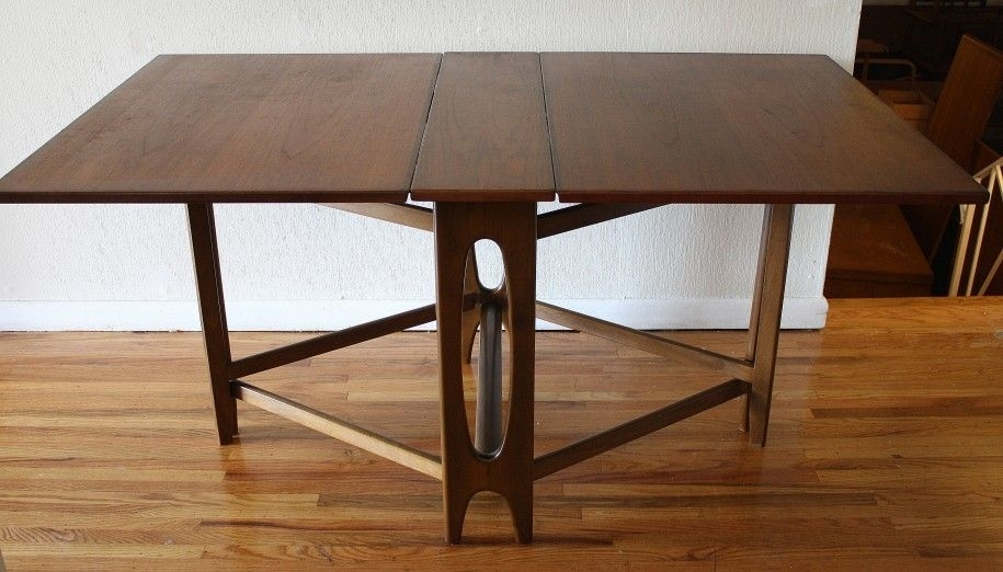 Folding Dining Table For Your Small Dining Room : Wooden Floor White Intended For Wood Folding Dining Tables (View 2 of 25)