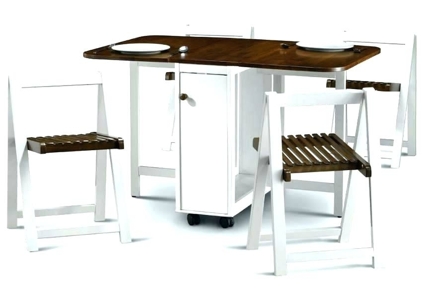 Folding Dining Table Great Furniture For Small Spaces Tables Chairs With Black Folding Dining Tables And Chairs (Image 17 of 25)