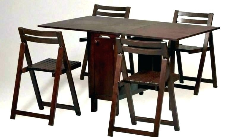 Folding Dining Table Sets Folding Dining Table Folding Dining Table Intended For Folding Dining Table And Chairs Sets (View 21 of 25)