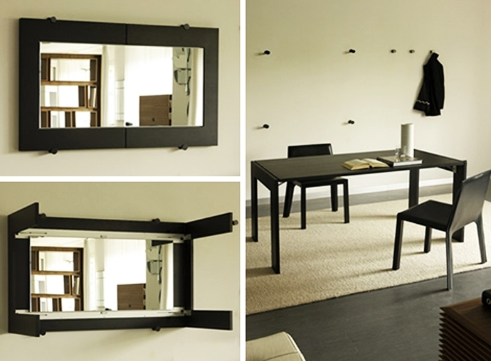 Folding Dining Table Turns Into A Mirror,porada Regarding Folding Dining Tables (Image 11 of 25)