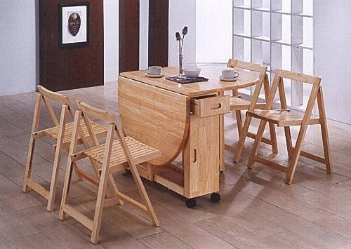 Folding Dining Table With Chairs Inside | Dining Chairs Design Ideas Regarding Cheap Folding Dining Tables (Image 12 of 25)