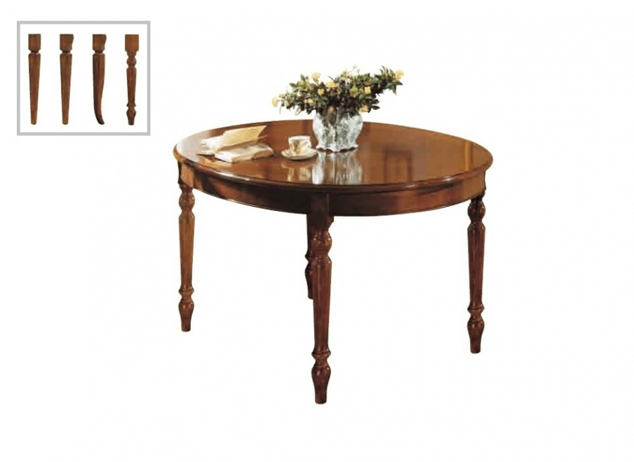Folding Dining Table With Oval Lacquered Top Canaletto, Arve Style Within Oval Folding Dining Tables (Image 10 of 25)