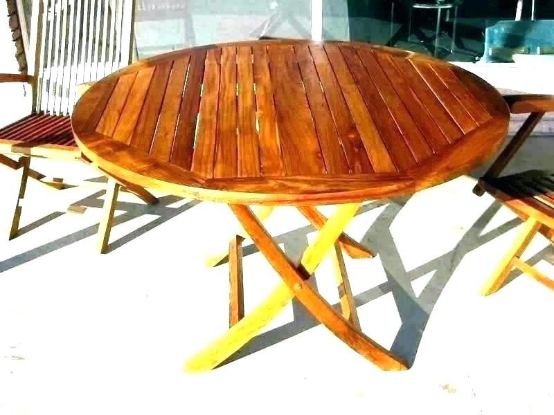 Folding Dining Table Wood Collapsible Round Table Small Round In Wood Folding Dining Tables (Image 16 of 25)