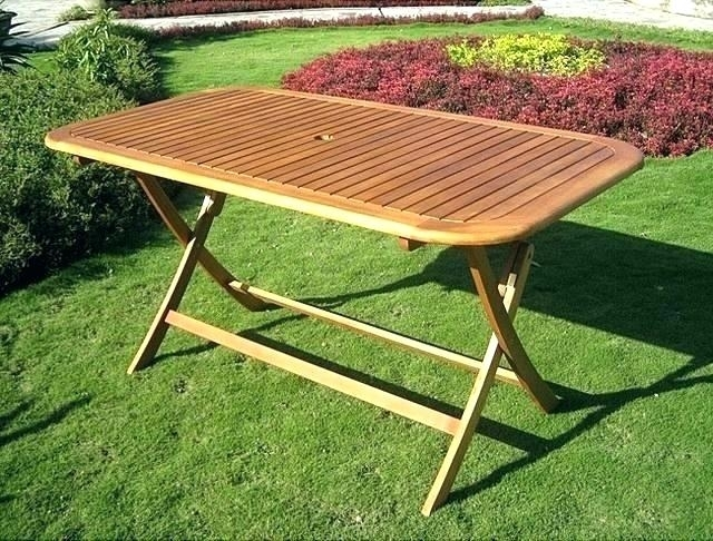 Folding Outdoor Dining Table Collapsible Outdoor Dining Table In Folding Outdoor Dining Tables (Image 13 of 25)
