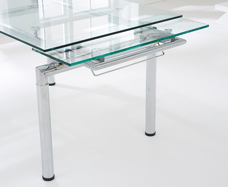 Forli 140Cm 200Cm Glass Extending Dining Table With Glass Folding Dining Tables (Image 12 of 25)