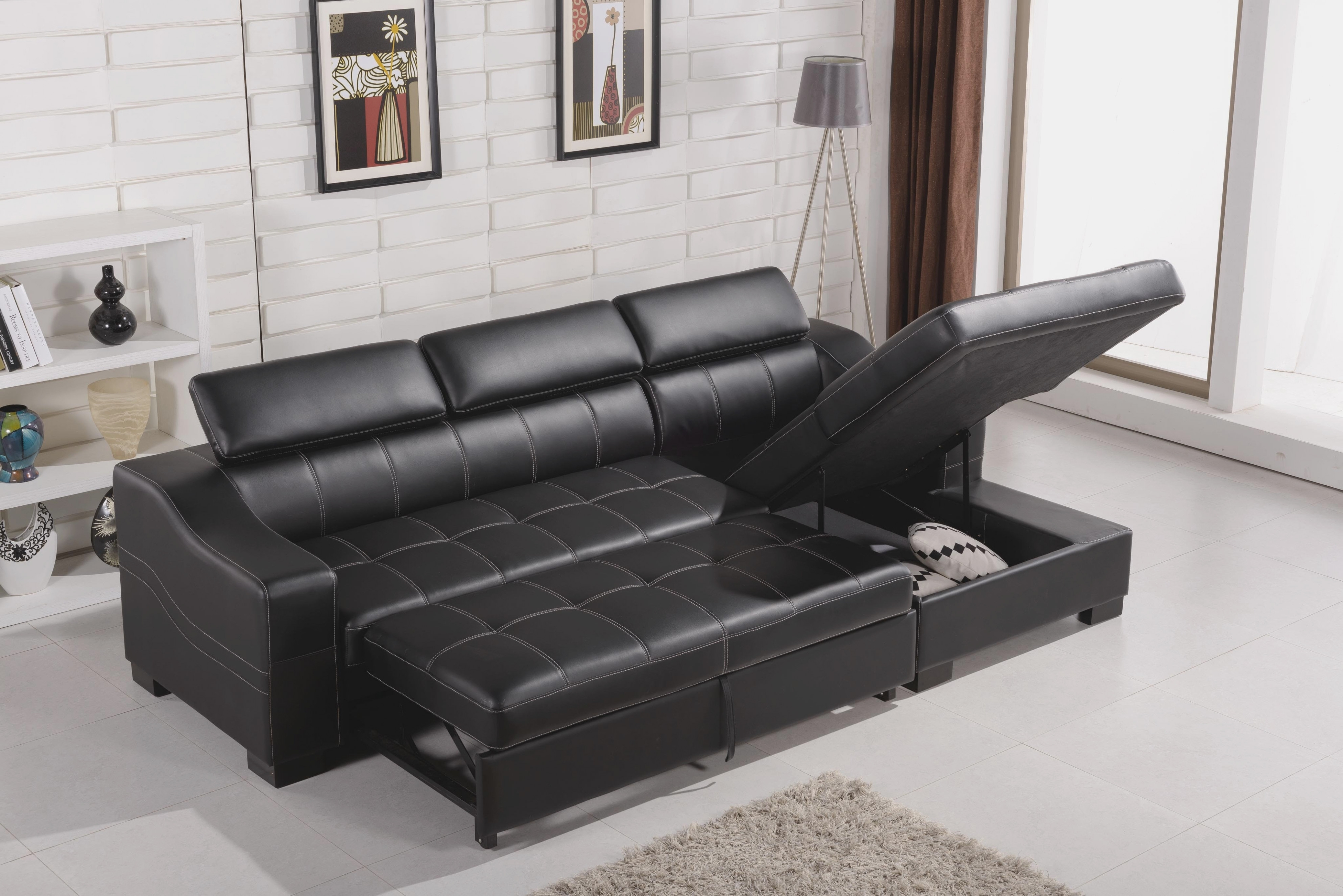 Formidable Sectional Sofa With Storage Chaise With Additional Chaise Regarding Taren Reversible Sofa/chaise Sleeper Sectionals With Storage Ottoman (Image 7 of 25)