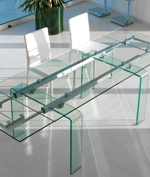 Fortuny Extension Extendable Glass Dining Table | Shop Online Pertaining To Curved Glass Dining Tables (Image 15 of 25)
