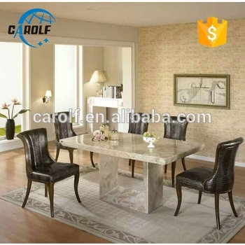 Foshan Luxury Marble Furniture Stone Dining Table Set With 8 Chairs Within Stone Dining Tables (Photo 5 of 25)