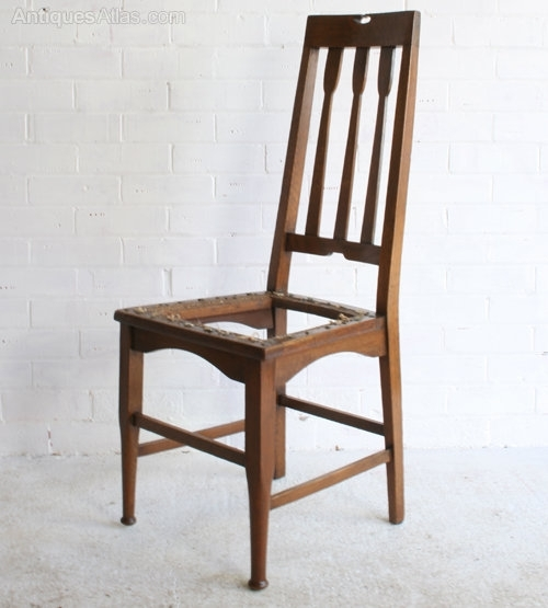 Four Arts & Crafts Glasgow School Dining Chairs – Antiques Atlas For Glasgow Dining Sets (Image 16 of 25)