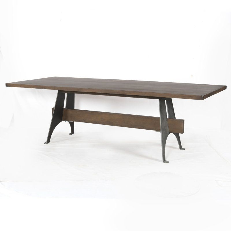 Four Hands Mango Wood/metal Dining Table – Isd 0165 | Products For Mango Wood/iron Dining Tables (Image 6 of 25)