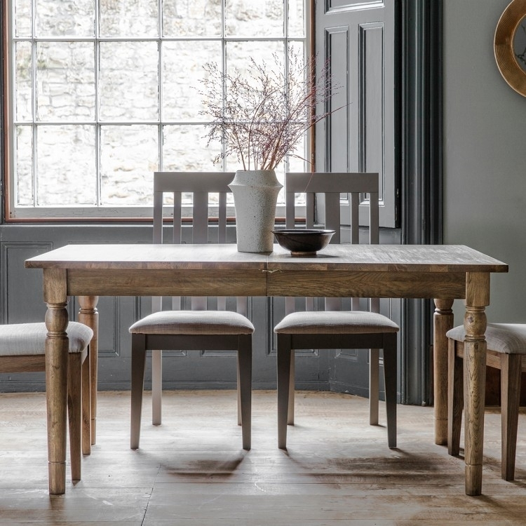 Frank Hudson Gallery, Cookham Oak Extending Dining Table – Cfs Intended For Extending Rectangular Dining Tables (Image 13 of 25)
