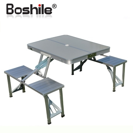 Free Shipping Boshile Outdoor Folding Tables And Chairs Set Aluminum With Folding Dining Table And Chairs Sets (Image 15 of 25)