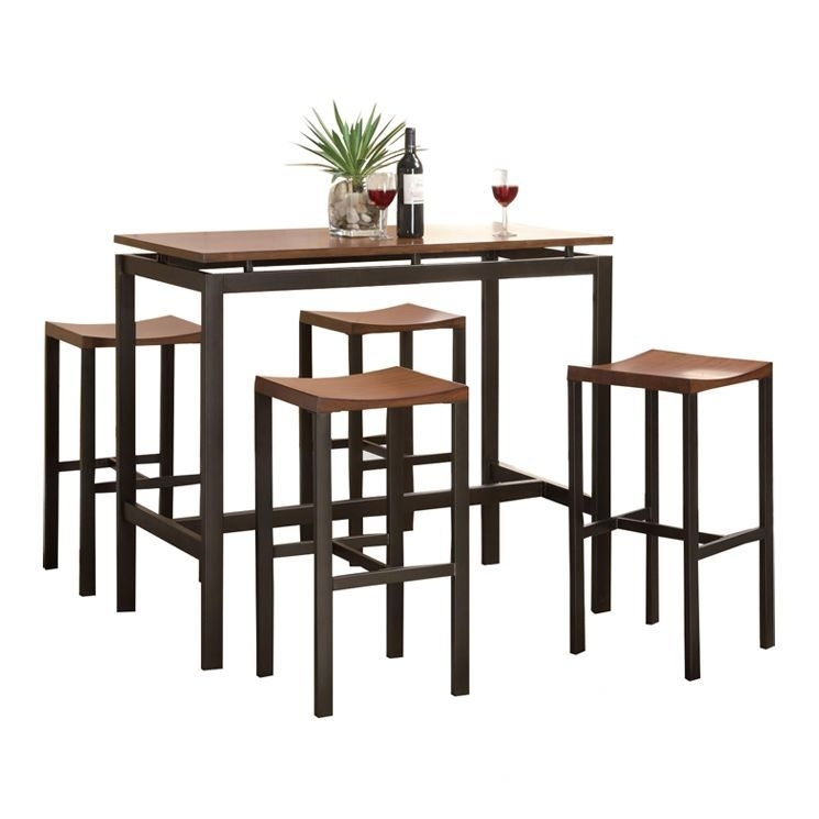 Freedom 5 Piece Counter Height Dining Set | Minimalist | Pinterest In Hyland 5 Piece Counter Sets With Stools (Image 14 of 25)