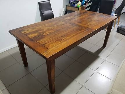 Freedom Dining Table 8 10 Seater | Dining Tables | Gumtree Australia For Norwood Rectangle Extension Dining Tables (Image 7 of 25)