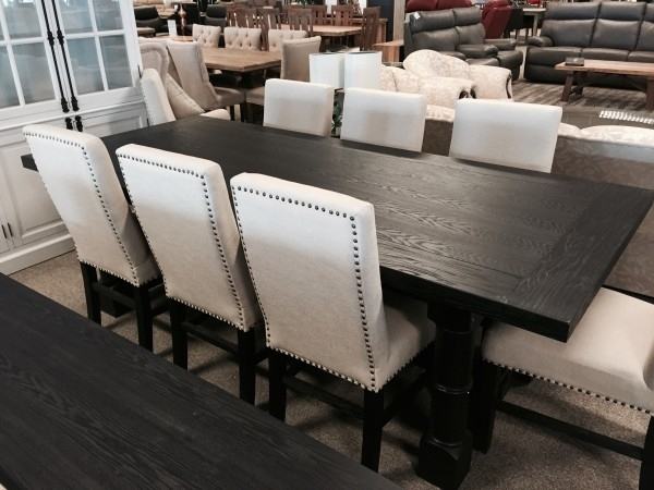 French Bordeaux Black Dining Table 2400 | Australian Lifestyle Furniture Inside Bordeaux Dining Tables (View 13 of 25)
