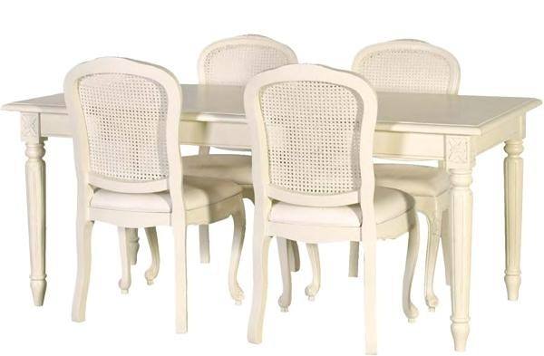 French Chic Dining Table In Cream – Rathwood Inside French Chic Dining Tables (View 12 of 25)