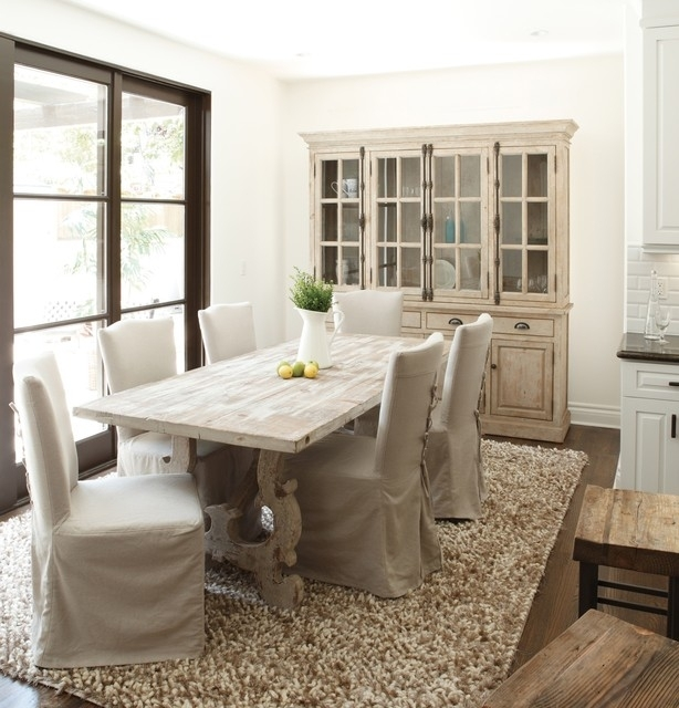 French Country – Traditional – Dining Room – New York  Zin Home In French Country Dining Tables (Image 7 of 25)