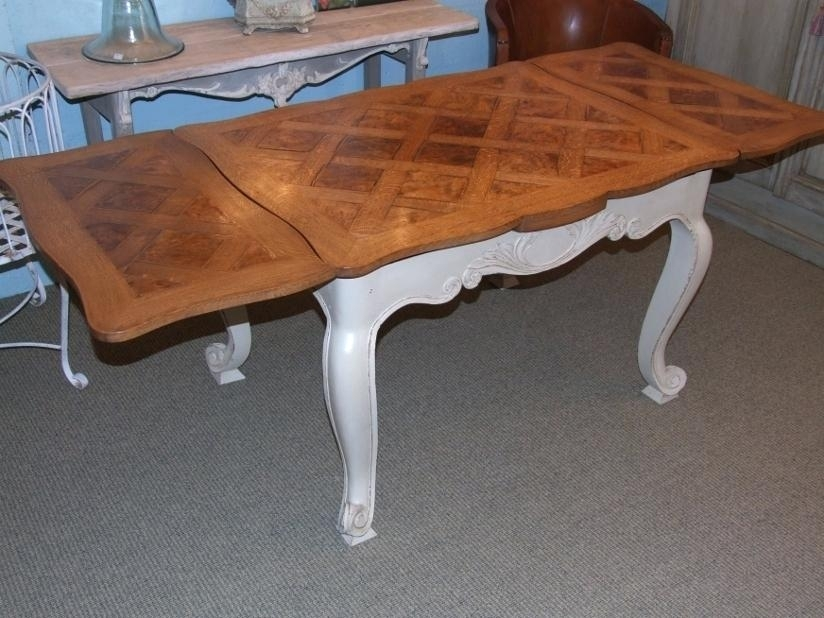 French Extending Dining Table Antique French Extending Dining Table Pertaining To French Extending Dining Tables (Image 7 of 25)