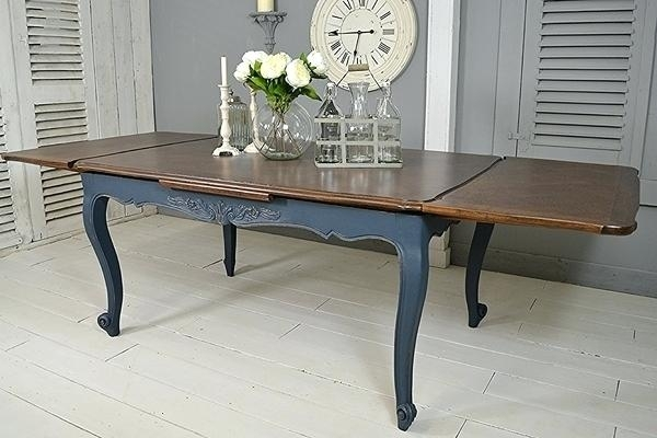 French Extending Dining Table Shabby Chic Xv Tables The Artwork With Regard To French Extending Dining Tables (Image 10 of 25)