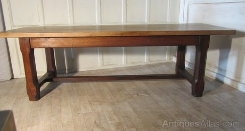 French Farmhouse Oak Dining Table From Brittany – Antiques Atlas Intended For French Farmhouse Dining Tables (Image 16 of 25)