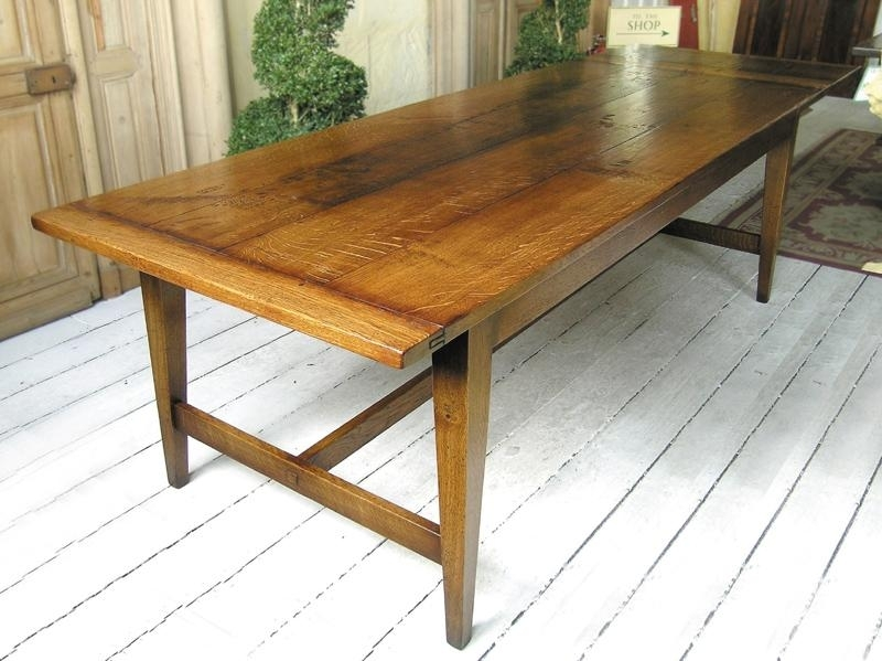 French Farmhouse Style Oak Refectory Table With Regard To French Farmhouse Dining Tables (Image 17 of 25)