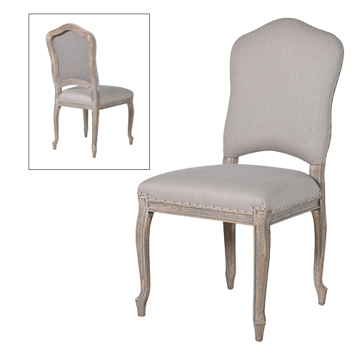 French Grey Dining Chair With Grey Dining Chairs (View 6 of 25)