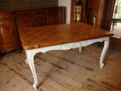 French Oak Extending Dining Table | 178220 | Sellingantiques.co (View 14 of 25)