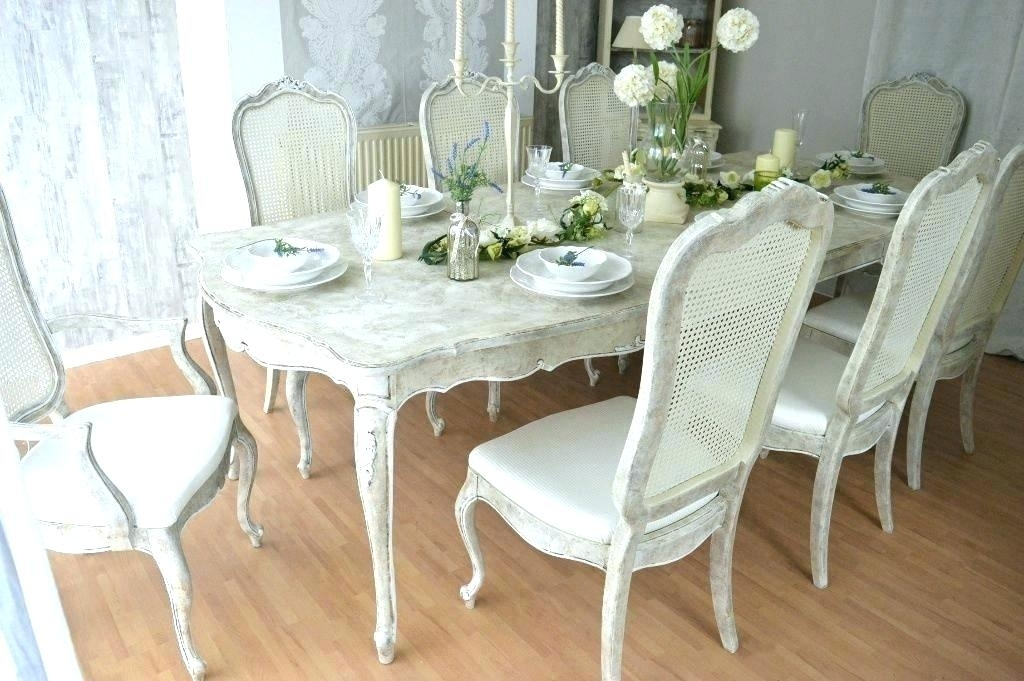 French Shabby Chic Dining Table French Shabby Chic Dining Room Within French Chic Dining Tables (Image 10 of 25)