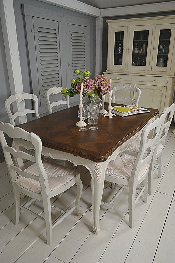 French Shabby Chic Extending Dining Set 1 | Sold Items | The With Regard To Shabby Chic Extendable Dining Tables (View 17 of 25)