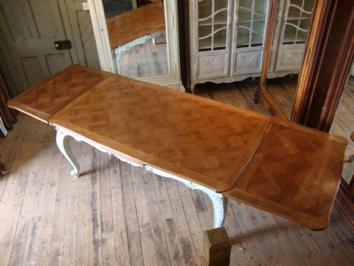 French Walnut Extending Dining Table | 176293 | Sellingantiques.co (View 16 of 25)