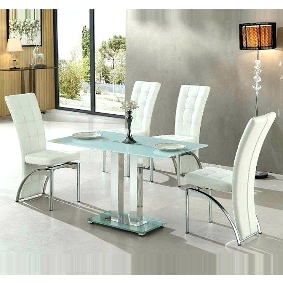 Frosted Glass Dining Room Table – Bcrr Within Smoked Glass Dining Tables And Chairs (Image 11 of 25)