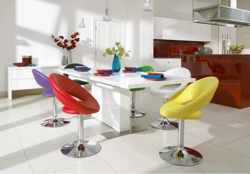 Fun Dining With Rainbow Chairs | Trying To Balance The Madness In Smartie Dining Tables And Chairs (View 16 of 25)
