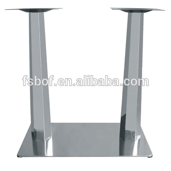 Furniture Accessories Fixing Square Metal Glass Top Table Legs Pertaining To Chrome Dining Sets (Image 9 of 25)