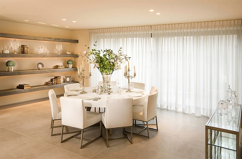 Furniture Arrangement Ideas: 25 Dining Rooms With Round White Dining Within White Circular Dining Tables (Image 13 of 25)