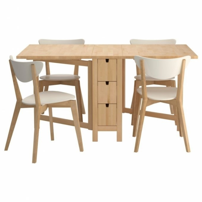 Furniture: Creative Ikea Folding Table And Chairs Set For Your In Folding Dining Table And Chairs Sets (Image 16 of 25)