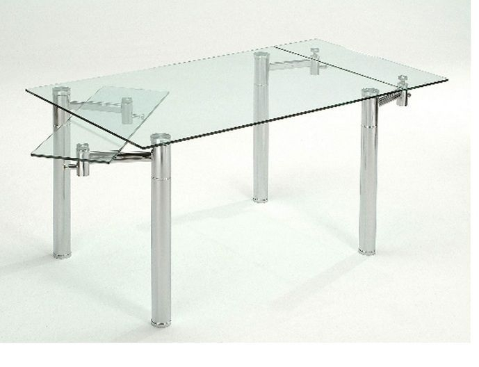 Furniture Dining Room Furniture Glass Table Extendable Glass Table Intended For Extendable Glass Dining Tables (Image 13 of 25)