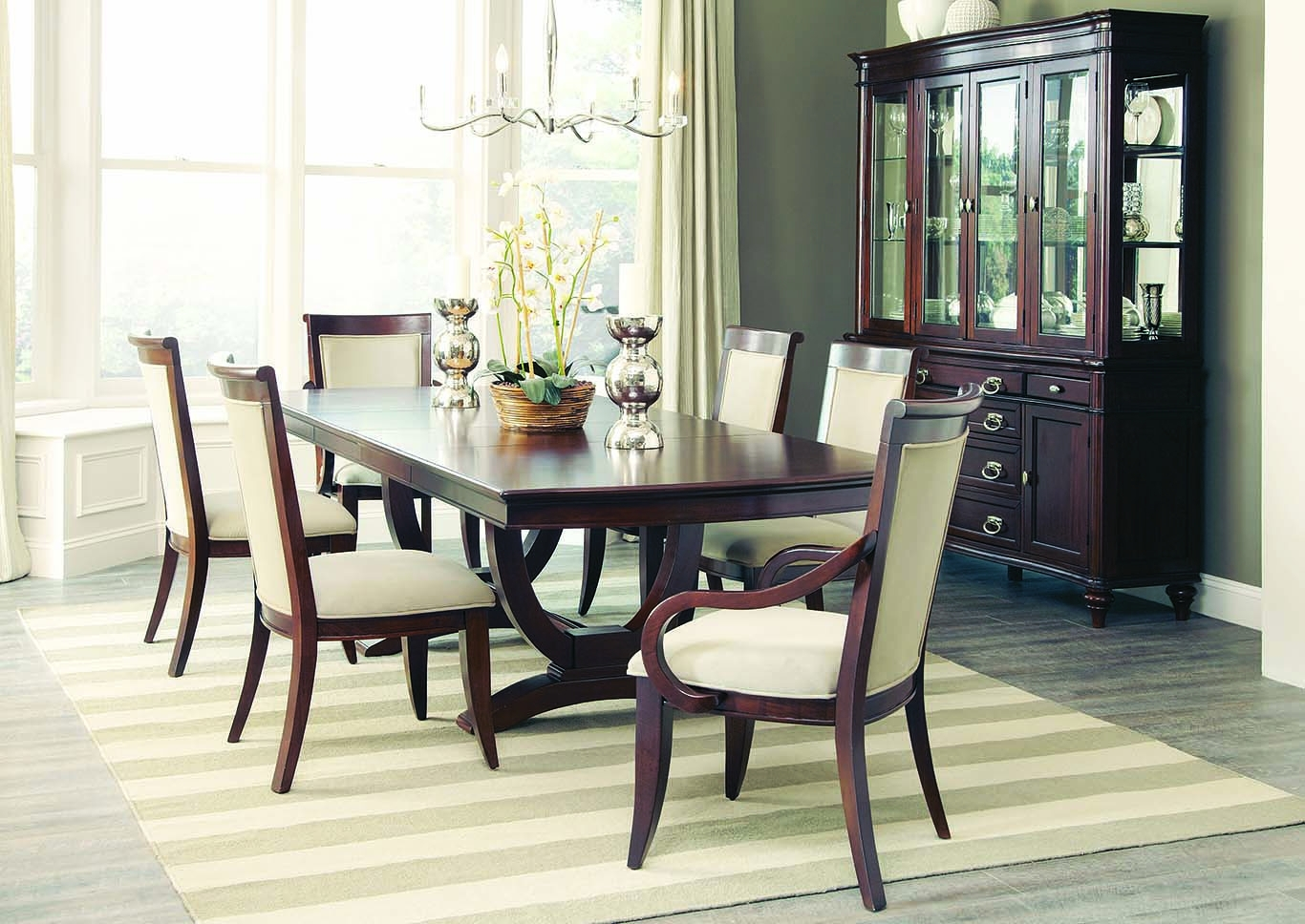 Furniture Expo – Baton Rouge, La Walnut Rectangular Extension Dining Inside Craftsman 7 Piece Rectangle Extension Dining Sets With Side Chairs (Image 11 of 25)