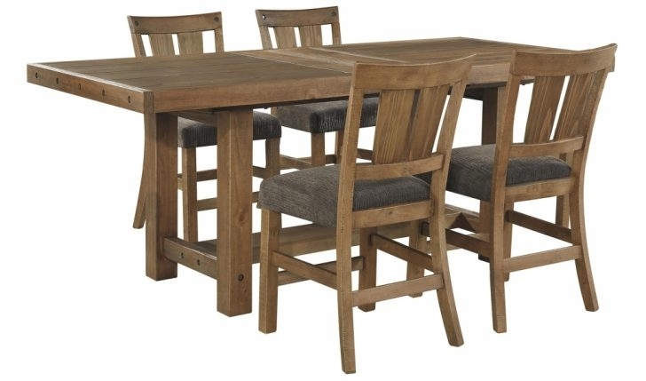 Furniture: Extension Table Lovely Signature Designashley Tamilo For Jaxon Grey 5 Piece Round Extension Dining Sets With Wood Chairs (View 17 of 25)