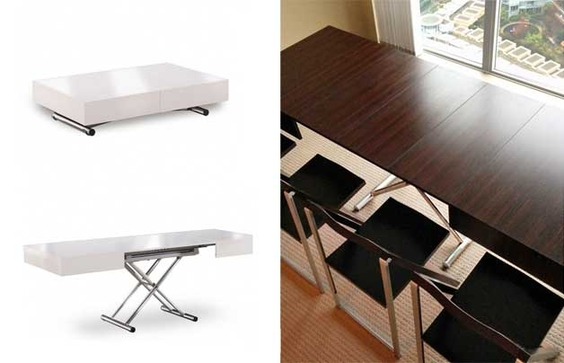 Furniture For Small Spaces | 17 Genious & Affordable Ideas (Must See!) For Dining Tables With Attached Stools (Image 10 of 25)