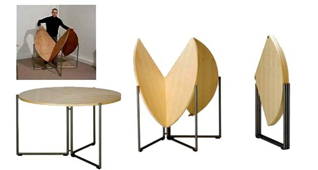 Furniture For Small Spaces | 17 Genious & Affordable Ideas (Must See!) Inside Dining Tables With Fold Away Chairs (View 8 of 25)